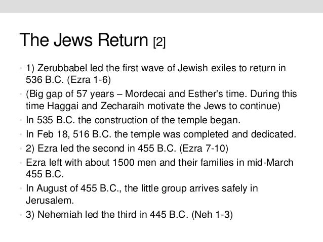 What is the Historical context of the return of Judah under Zerubbabel?