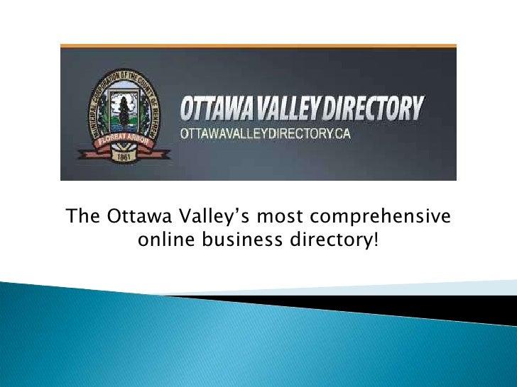Ottawa Valley Directory   Workshop