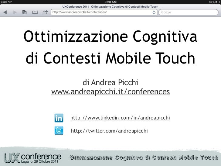 Ottimizzazione Cognitiva di Contesti Mobile Touch
