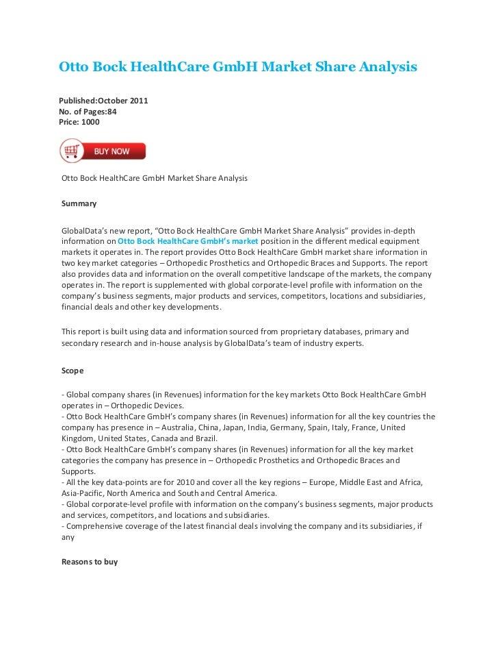 Otto bock health care gmbh market share analysis