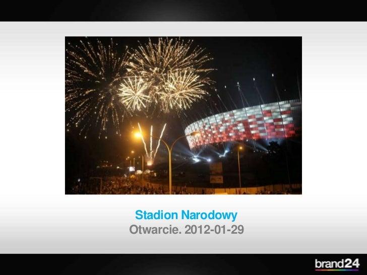 Stadion NarodowyOtwarcie. 2012-01-29