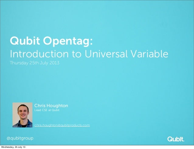 Introduction to Universal Variable — 25th July 2013