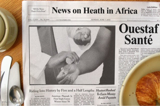infographics on health in Africa