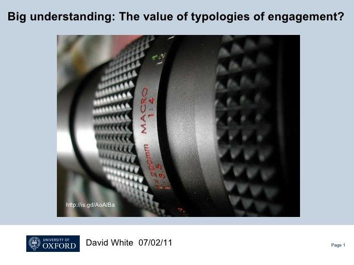 Big understanding: The value of typologies of engagement?