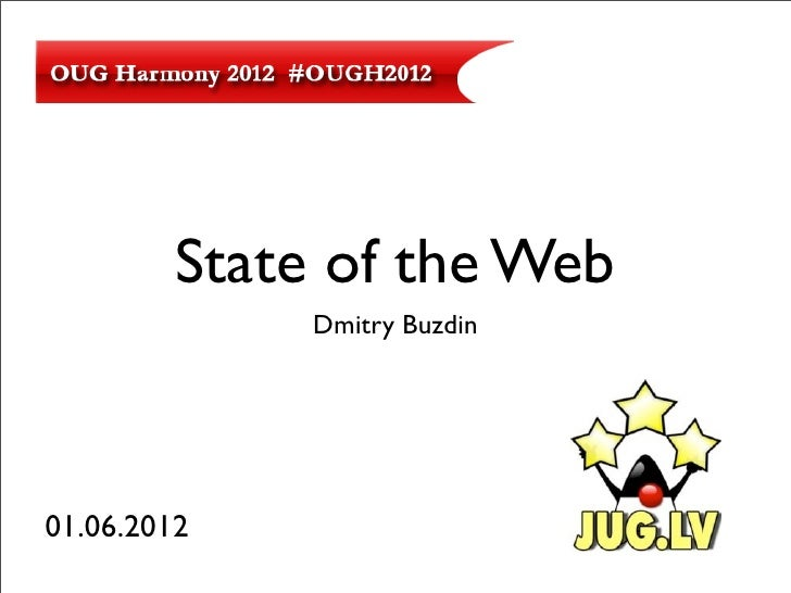 State of the Web              Dmitry Buzdin01.06.2012