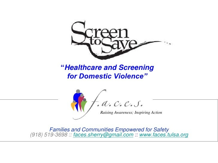 """Healthcare and Screening               for Domestic Violence""                                Raising Awareness; Inspiring..."