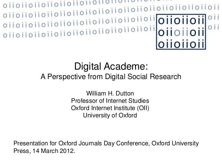 Digital Academe: Implications of Digital Research