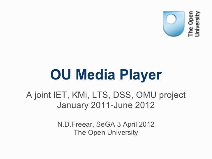 OU Player APG Meeting 2012