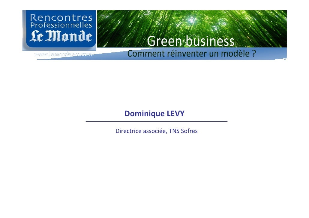DominiqueLEVY Directriceassociée,TNSSofres