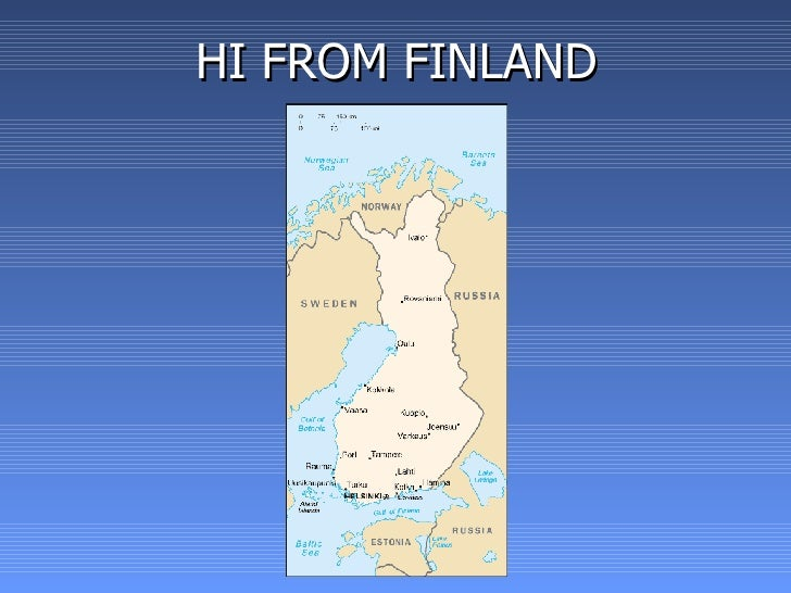 HI FROM FINLAND