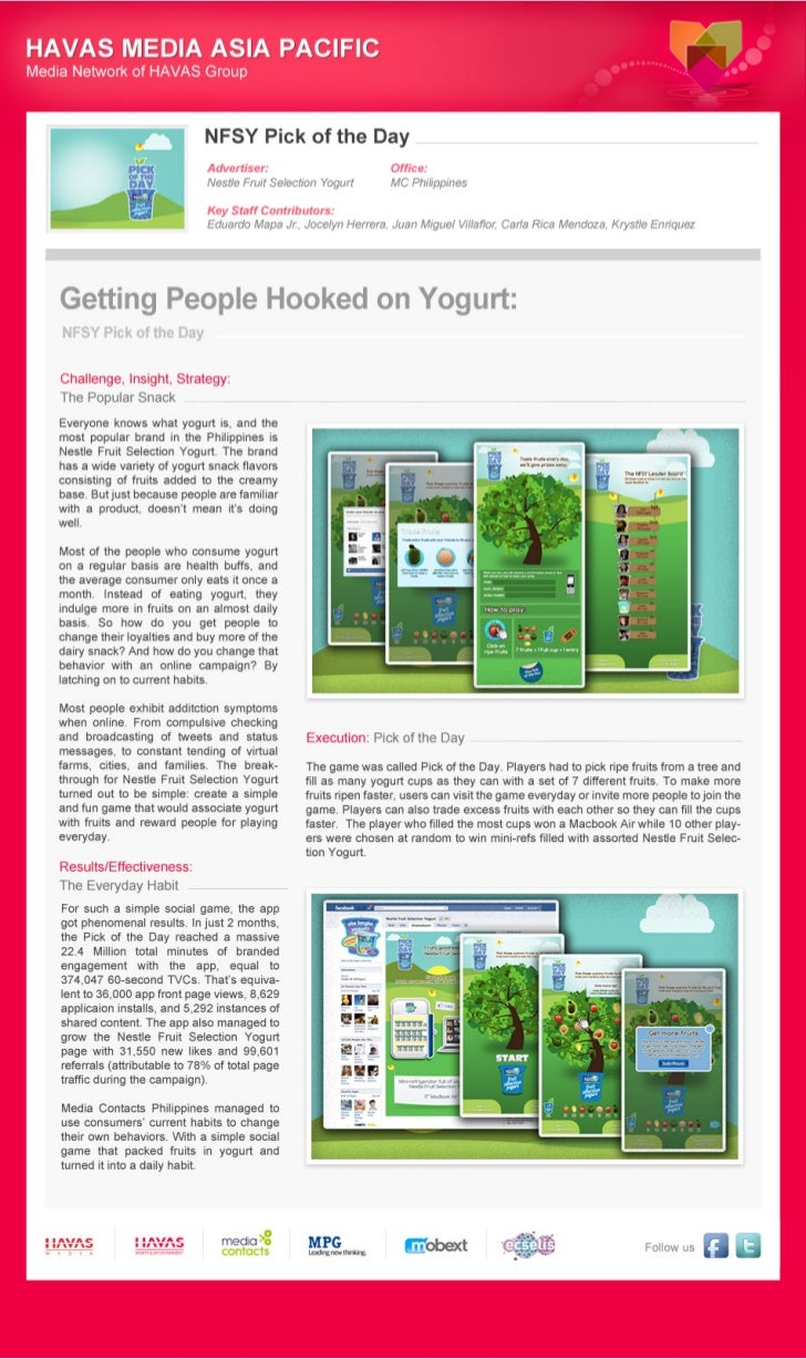 [Our Great Work!] - Getting People Hooked on Yoghurt, by Media Contacts Philippines