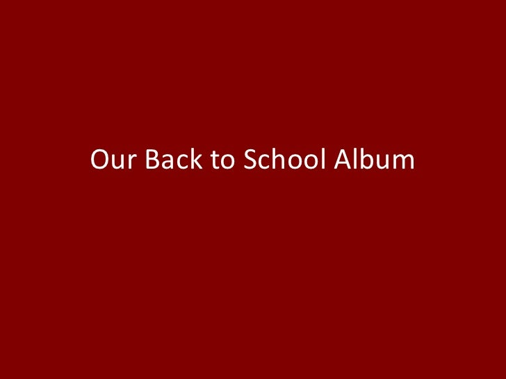 Our back to school album