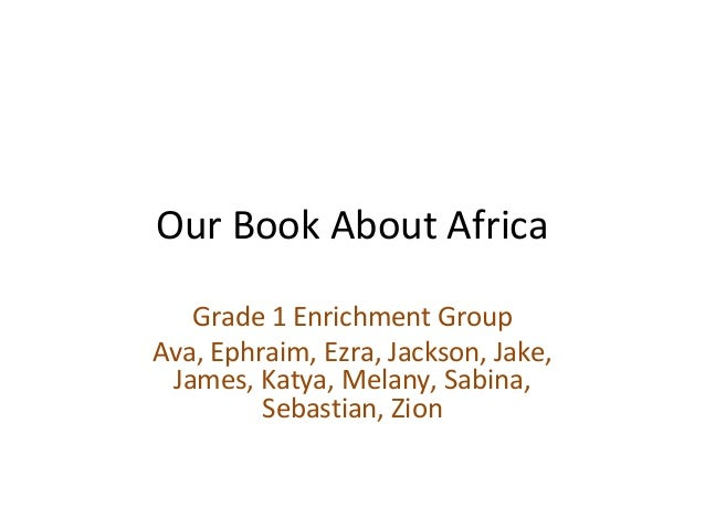 Our book about africa