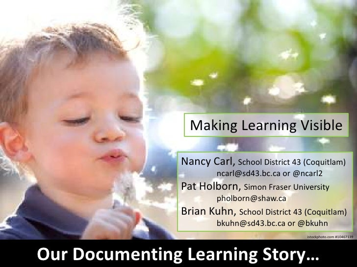 Our documenting learning story