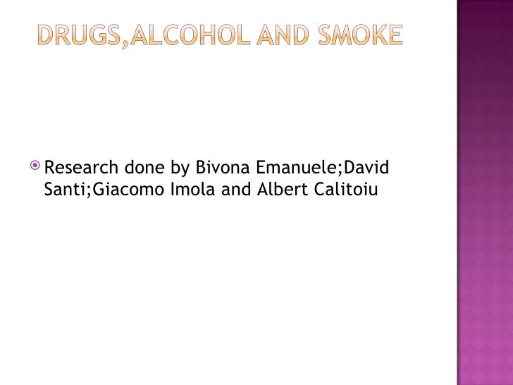 <ul><li>Research done by Bivona Emanuele;David Santi;Giacomo Imola and Albert Calitoiu </li></ul>