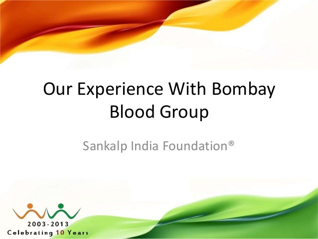 Our experience with Bombay Blood Group