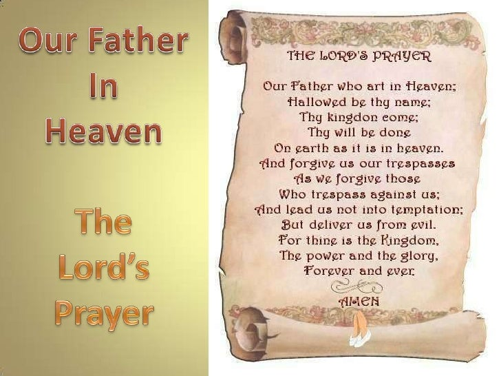 Our Father<br />In<br />Heaven<br />The <br />Lord's<br />Prayer<br />