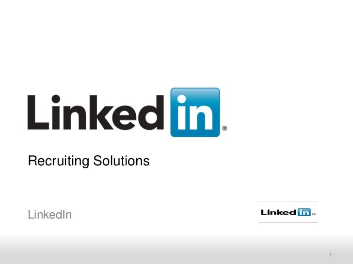 Recruiting SolutionsLinkedIn    Recruiting Solutions    Recruiting Solutions   1