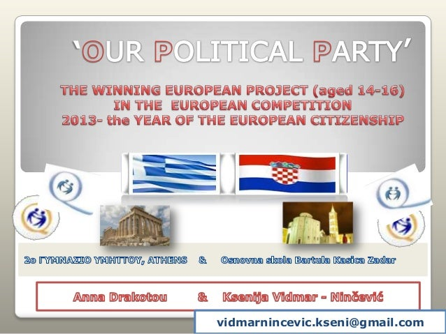 'Our political party' european winning project in 2013