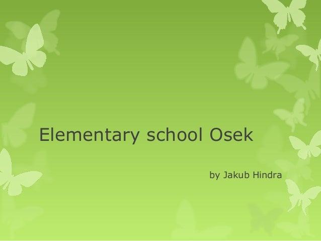 Elementary school Osek by Jakub Hindra