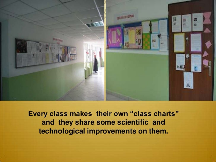 "Every class makes their own ""class charts""   and they share some scientific and  technological improvements on them."