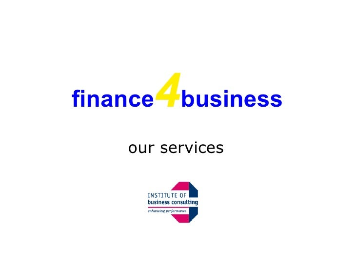finance 4 business our services
