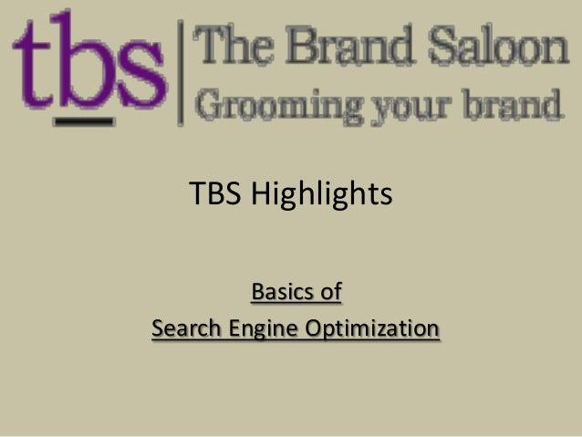 TBS Highlights Basics of Search Engine Optimization