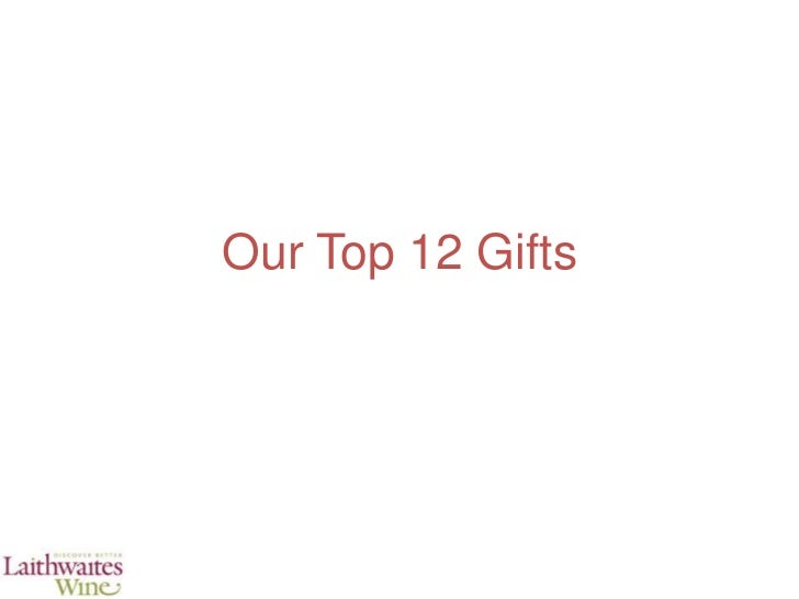 Our top 12 gifts