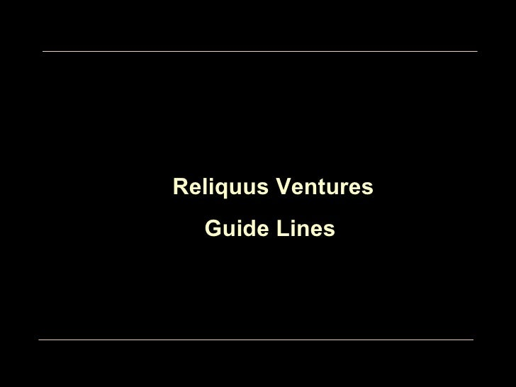 Our Values Reliquus Ventures