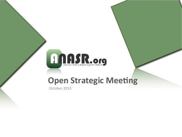 anasr.org first open strategic meeting