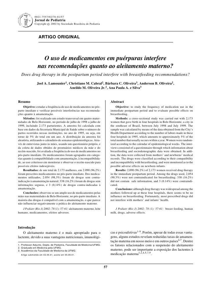 0021-7557/02/78-01/57                                                               Jornal de Pediatria - Vol. 77, Nº1, 20...