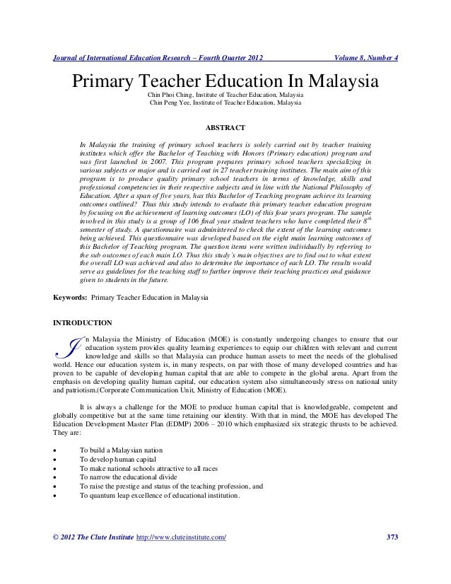 primary education in malaysia Offering both international and national syllabi real international schools in  malaysia offer students a rich and holistic curriculum from preschool to primary.