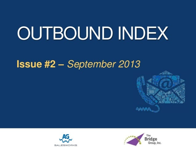 The Outbound Index: September 2013