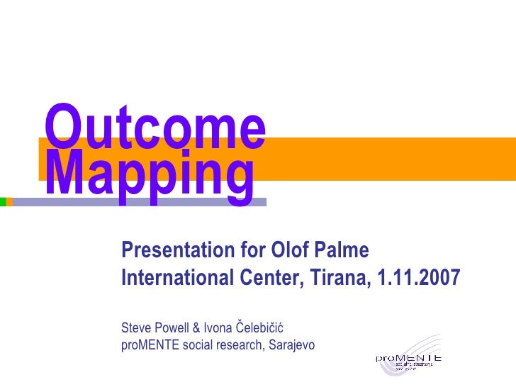 Outcome Mapping for Olof Palme