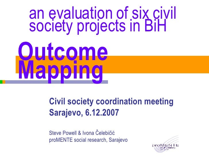 Outcome Mapping presentation for donor coordination meeting