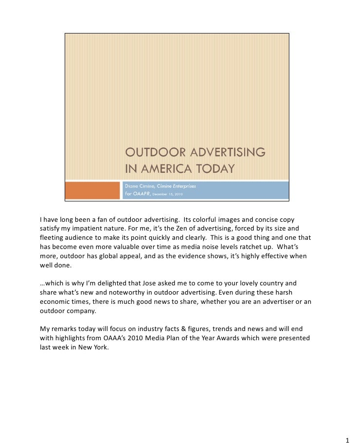 Outdoor Advertising In America Today 121510