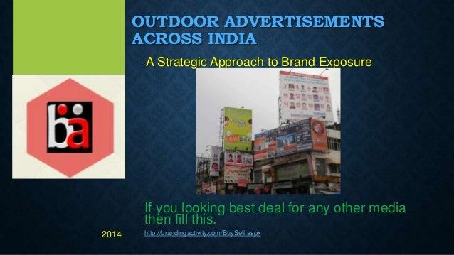 Innovative outdoor advertisement across India , OOH