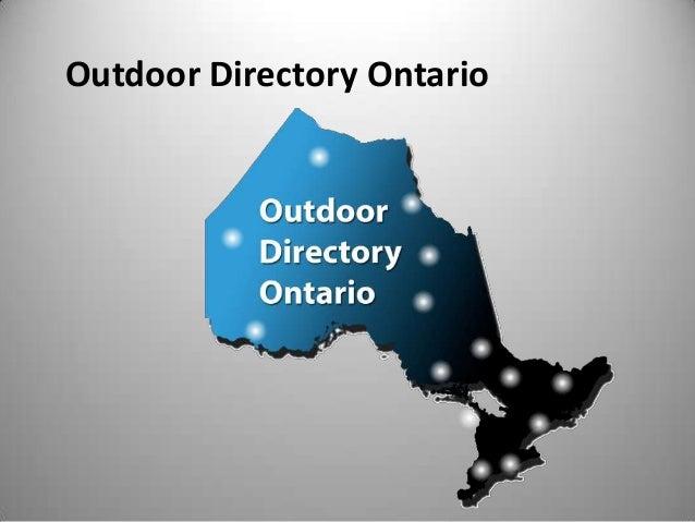 Outdoor Directory Ontario