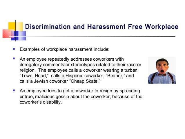 irac example of anti discrimination in the work place issue for managers Your rights as an employee under the notification of federal employees anti-discrimination act • the law prohibits harassment at work by managers.
