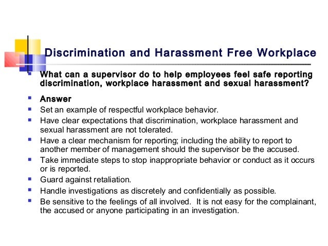 discrimination at workplace essay example