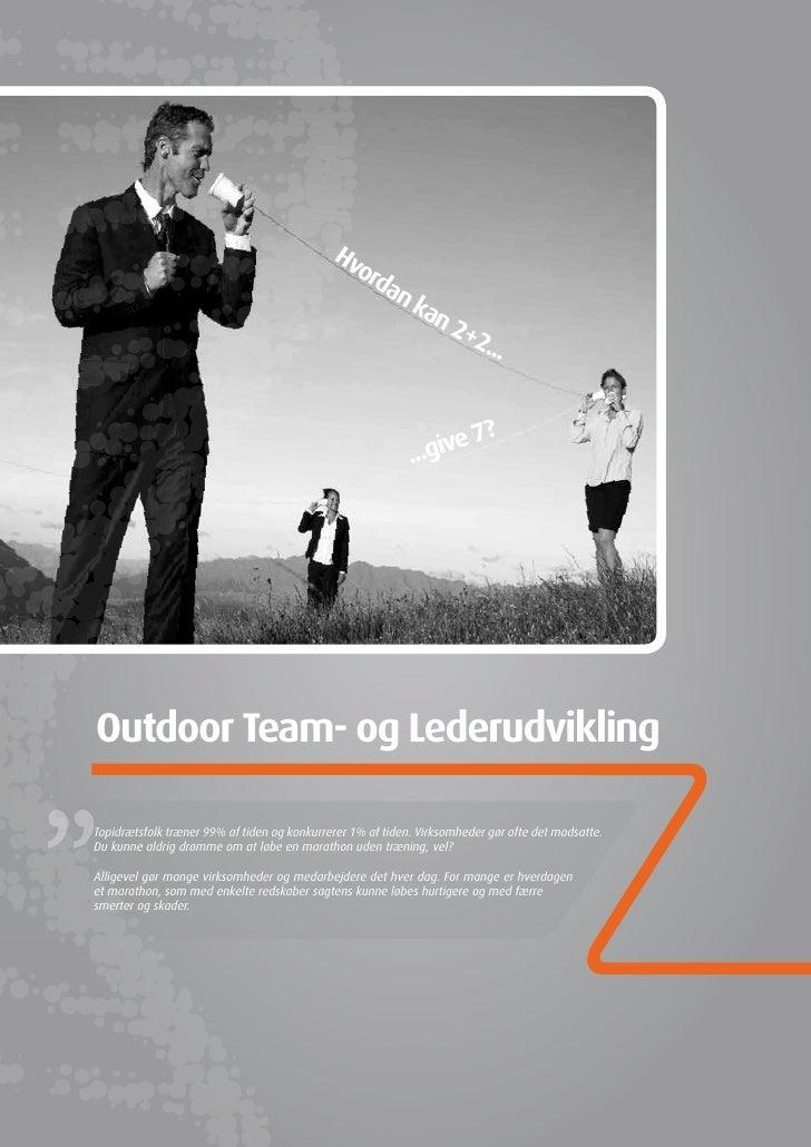Outdoor Team  Og Lederudvikling