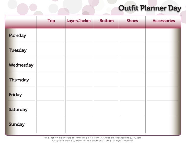 Outfit Planner Day