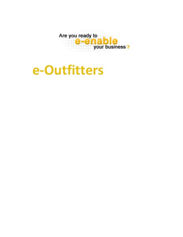 Outfitters e-Business Plan
