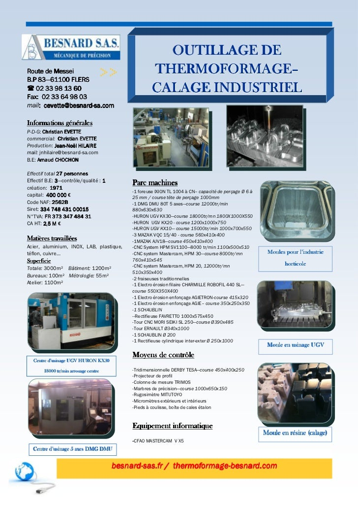 Outillage de thermoformage