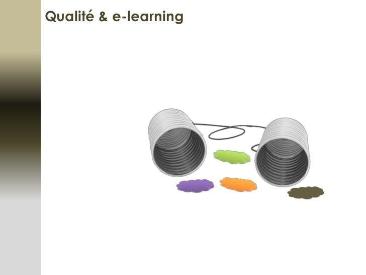 Qualité & e-learning<br />