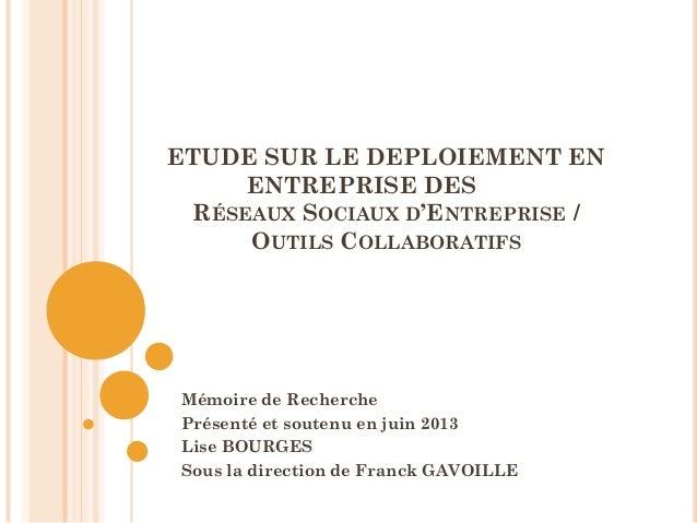 Outils collaboratifs & conduite du changement