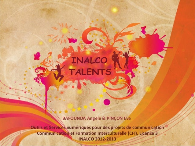 BAFOUNDA Angèle & PINÇON EveOutils et Services numériques pour des projets de communication  Communication et Formation In...