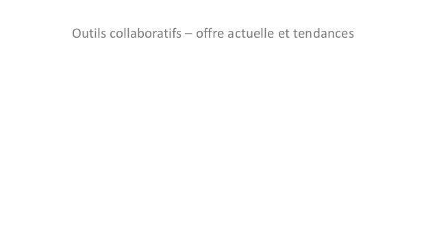 Outils collaboratifs – offre actuelle et tendances