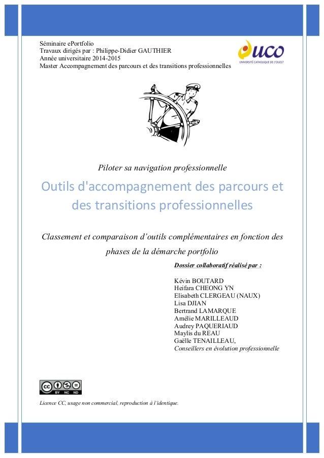 Séminaire ePortfolio Travaux dirigés par : Philippe-Didier GAUTHIER Année universita...