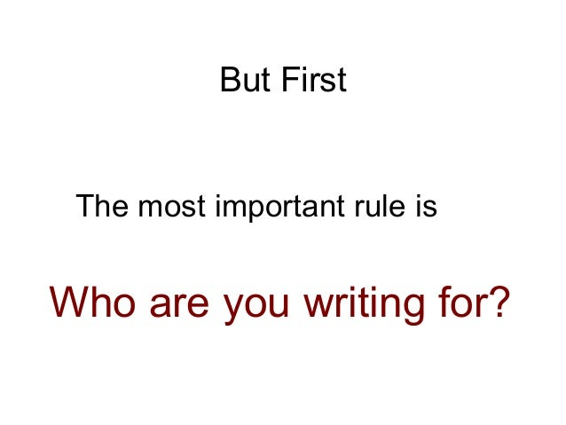 rule in writing an essay